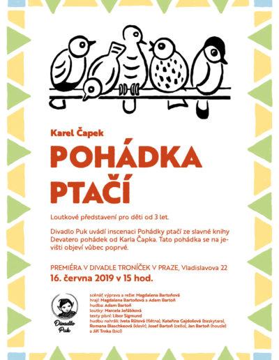 Plakát ptačí pohádka, Divadlo Puk